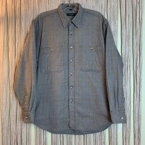 Christian Dior Long Sleeve Brown Plaid Flannel M